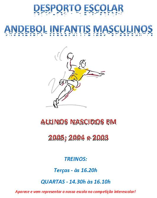 Desporto escolar: Andebol