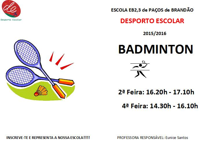 Desporto escolar: Badminton